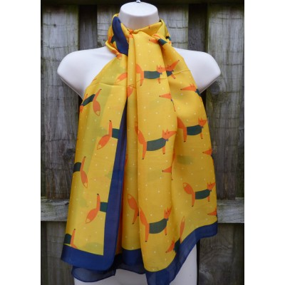 Silky Feel Foxes (Yellow / Navy)