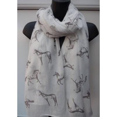 Wild Horses (White & Grey)