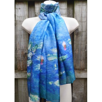 Monet's Water Lilies (Blue)