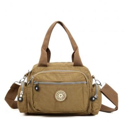 Two Handled Crossbody Bag (Camel)