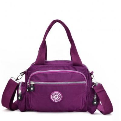 Two Handled Crossbody Bag (Purple)