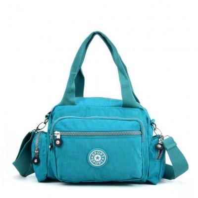 Two Handled Crossbody Bag (Turquoise)