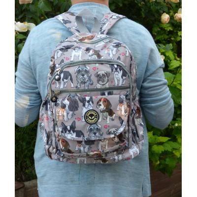 Backpack - Multi Dog Breed (Grey)
