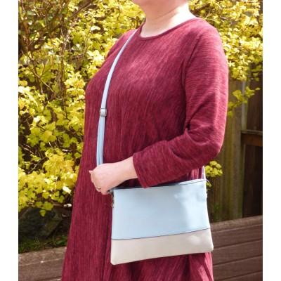 Colour Block Bag (Light Blue / Pearl)