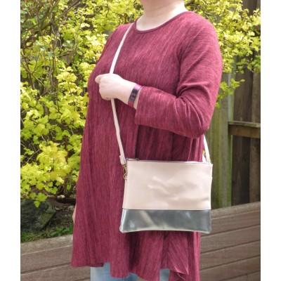 Colour Block Bag (Light Pink / Silver)