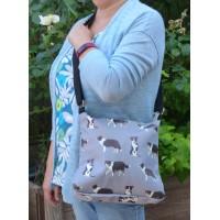 Crossbody Bag - Border Collies (Grey)