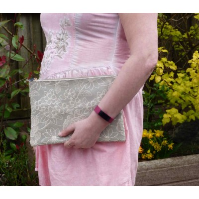Embroidered Special Day Bag (Light Grey)