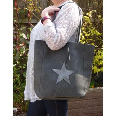 Large Bucket Shopper - Single Star