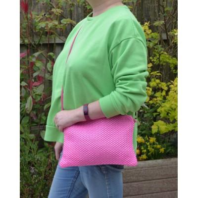 Neon Rattan Bag (Pink)