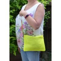 Neon Rattan Bag (Yellow)