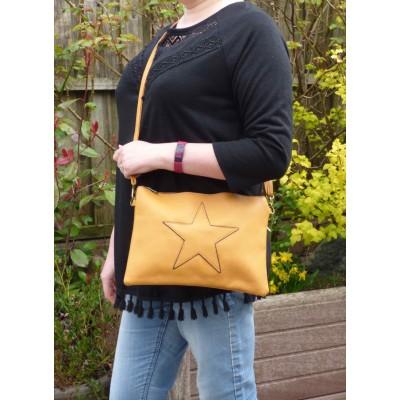Self Coloured Star Bag (Deep Mustard)