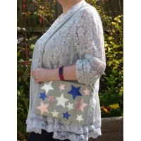 Shoulder Bag - Metallic Stars