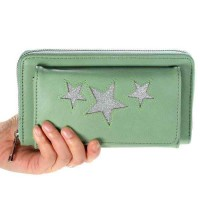 Glitter Star Purse (Green)