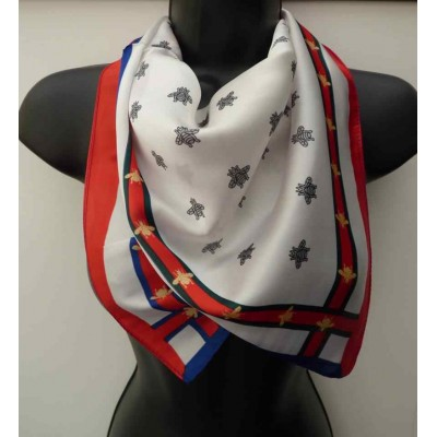 Silk Mix Bee Square Scarf