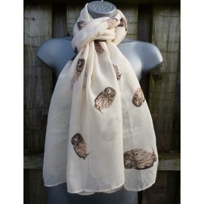 Glitter Owls (Cream)