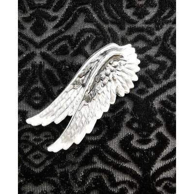 Magnetic Angel Wings RV Scarf Brooch (Pewter)