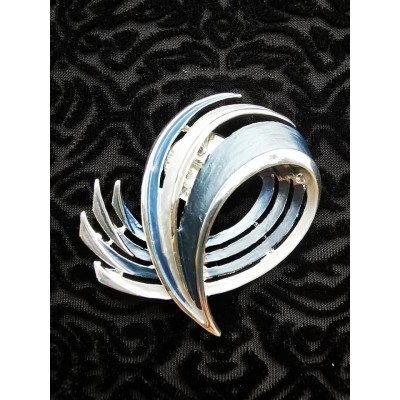 Magnetic Wave RV Scarf Brooch (Blue)