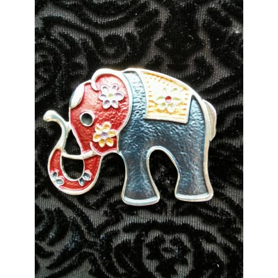 Magnetic Elephant Scarf Brooch