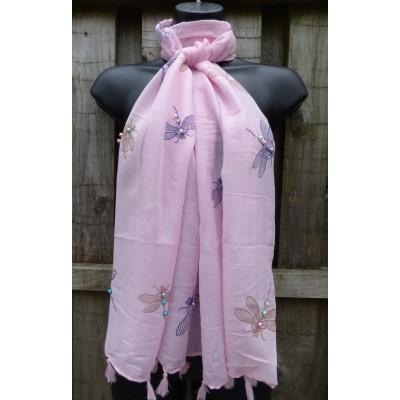 Tasselled Pearl Dragonflies (Pink)
