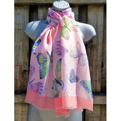 Tropical Butterflies (Pink)