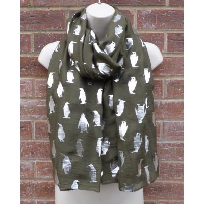Silver Sparkle Penguins (Khaki)