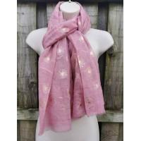 Rose Gold Marle Dandelions (Pink)