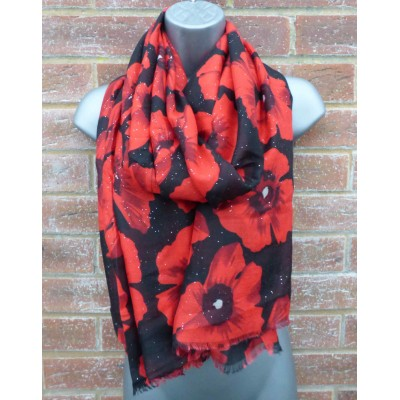 New Glitter Poppies YC0390 (Black)