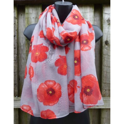 Simple Poppies (Grey)