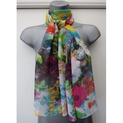 Silk Mix Impressionist Floral