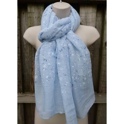 Ditsy Glitter Buds (Light Blue)