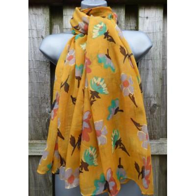 Floral 9164 (Mustard)