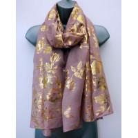 Gold Floral Print (J95596)