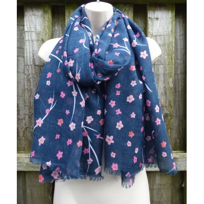 Navy & Pink Winter Flowers (PS0621)