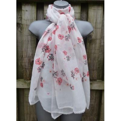 Subtle Glitter & Pearl Floral (White)