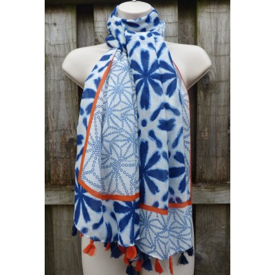Tassel Flowers 20030 (Blue / Orange)