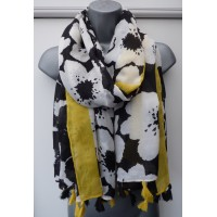 Tassled Floral 9038 (Yellow/Black)