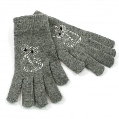 Sparkle Cat Gloves (Grey)