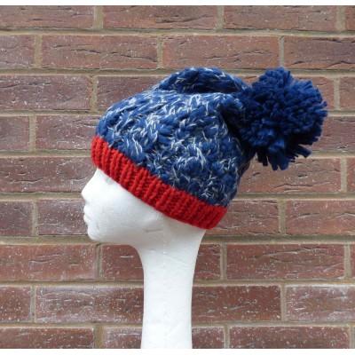 Contrast Knit Bobble Hat (H727)