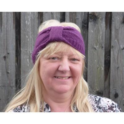 Purple Knit Head Warmer