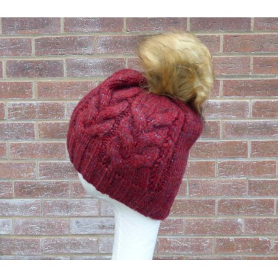 Chunky Cable Knit Bobble Hat (H714)