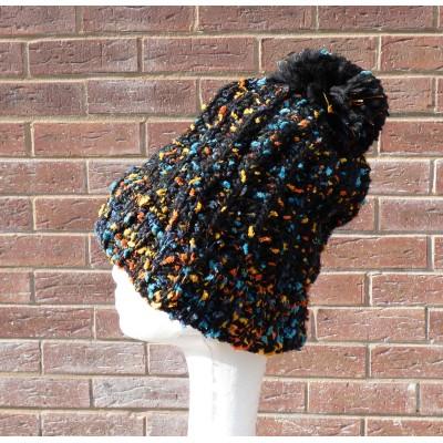 Fleece Lined Speckled Bobble Hat (YC9000)