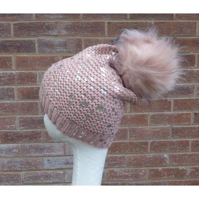 Silver Splash Bobble Hat H805 (Pink)