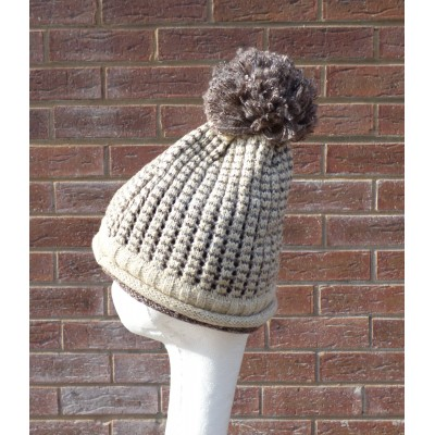 Two Toned Ribbed Bobble Hat (YC070)