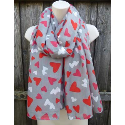 Confetti Hearts (Grey)