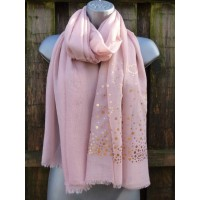 Gold Sequin Hearts J341 (Pink)