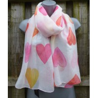 Sherbet Hearts M3736 Light Cream / Multicoloured)