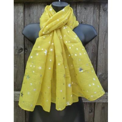Silver Sparkle Multi Stars (Yellow)