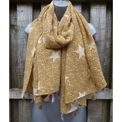 Tasselled Stars 9062 (Mustard)