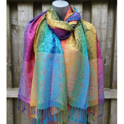 Pride All Over Paisley Pashmina