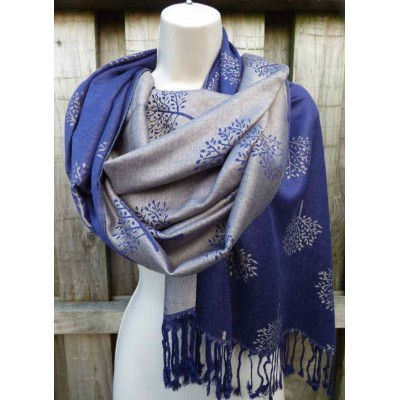 Reversible Mulberry Pashmina